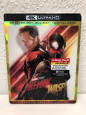 Ant-Man and The Wasp (4K UHD, Blu-ray, Digital, 2018) New Sealed Ships out Fast!