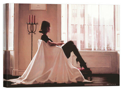 quadro Stampa su Tela Vernice Effetto Pennellate Jack Vettriano Thoughts of You