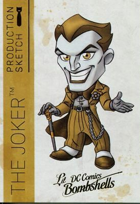 DC Comics Bombshells 2 Gold Deco Lil Sketch Chase Card A06 The Joker