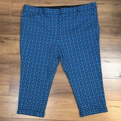 1ee3872e2a5 Lane Bryant Womens Pants Capri Size 28 Stretch Blue Aqua Crop Cuffed Pants