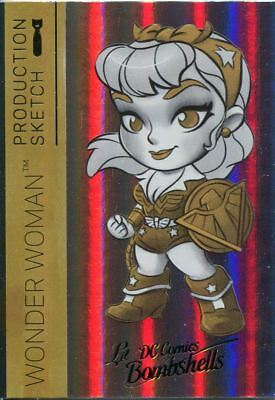 DC Comics Bombshells 2 Rainbow Lil Sketch Chase Card A01 Wonder Woman