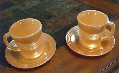 Vintage Fire King Coffee cup and matching saucers set of 2 1950's