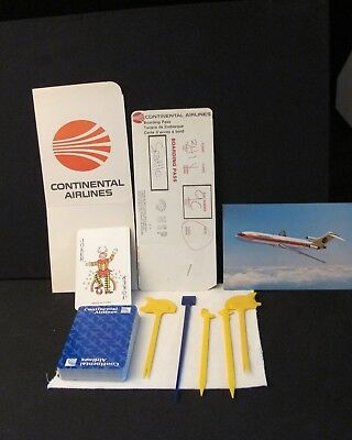 Continental Airlines Playing Cards, Post Card (new), ticket jacket...more