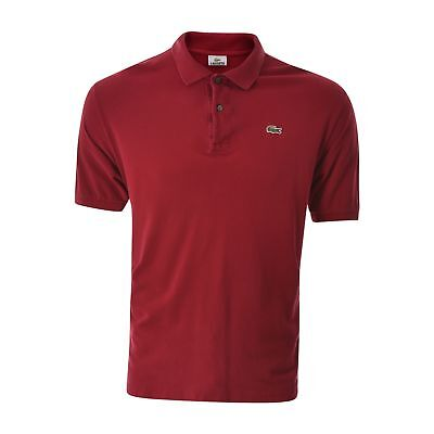 87979a7b Lacoste Men's polo t-shirt Size 7 burgundy Short Sleeve Collared Neck  Authentic