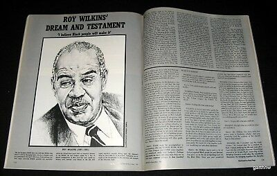 Roy Wilkins 1981 Death Feature & Interview Ebony Magazine + Diana Ross