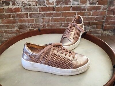 05d51557a76 STEVE MADDEN NAPA Natural Comfort Rose Gold Leather Mesh Lace up Sneakers 9  NEW