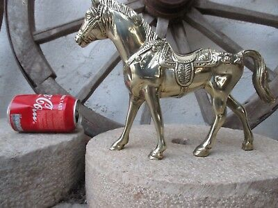 Vintage Solid Brass Very Heavy 2650 Grams. Large Size Lovely Statue Figure Horse