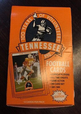 1990 1st Edition University of Tennessee Volunteer Football Cards