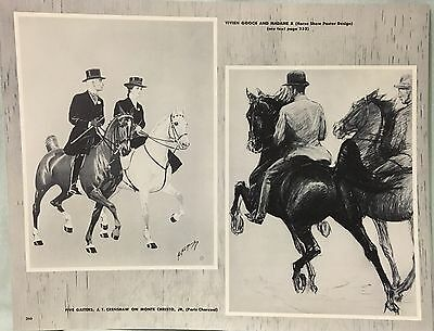 Vintage Horse Show Poster & Five Gaiters Horse George Ford Morris 1952 Print