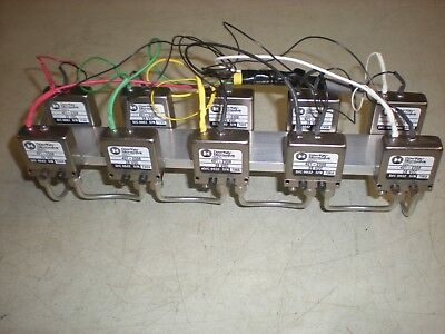 Lot of (10) Dow-Key Microwave 401-2308 SMA Switches on an aluminum bracket