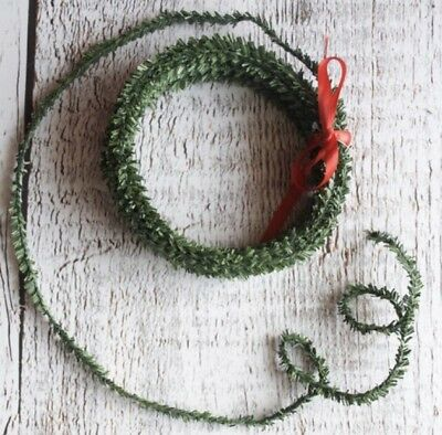 Miniature wired pine Garland  Roping Christmas Dollhouse