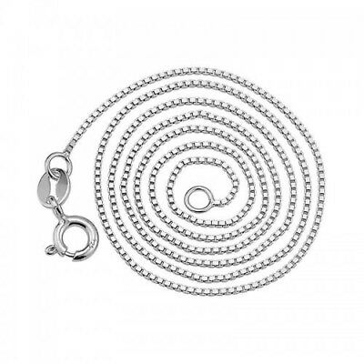 .925 Sterling Silver .8mm Box Chain Necklace for Pendants