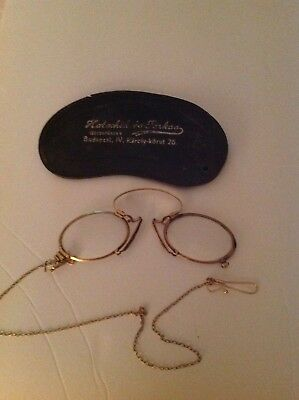 Antique Victorian Armless  Reading Glasses