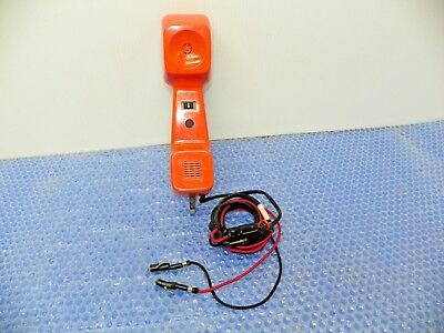 Vintage AT&T Lineman's Test Phone 1980's Butt Tester Touch Tone with Plug Mod.