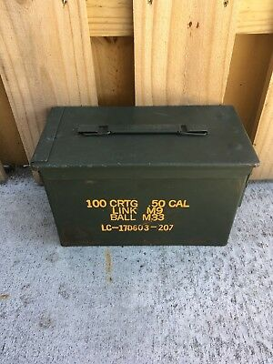 (1) 50 Cal M2A2 5.56Mm Us Military Ammo Can Good Condition *free Shipping*