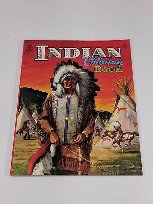 Vintage Rand McNally Coloring Book INDIAN North American Tribes Unused