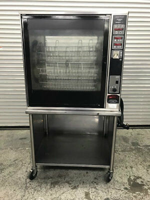 8 Basket Electric Rotisserie Oven Henny Penny SCR-8 #9047 Chicken Ribs Rotating
