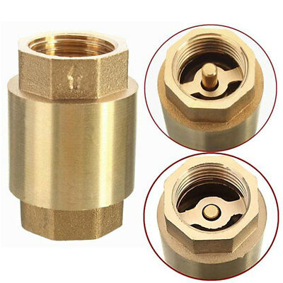1-6pcs Hot 1/2'' Brass Thread In-Line Spring Check Valve Vertical Type Access