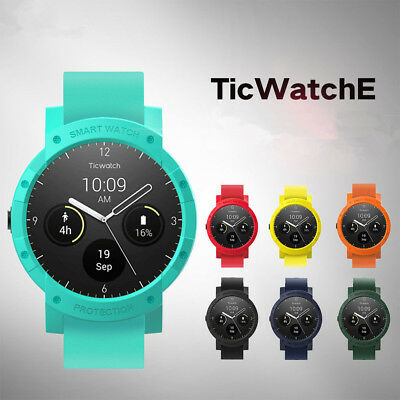 Colorful Sport Shock-Proof PC Protective Case Cover For Ticwatch E Smart Watch