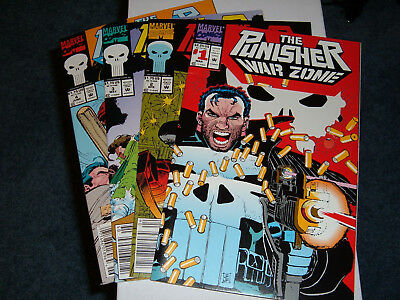 The Punisher: War Zone lot issues 1-4 (Mar 1992, Marvel)