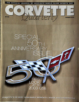2002 Corvette Quarterly Magazine Summer Issue 50Th Anniversary