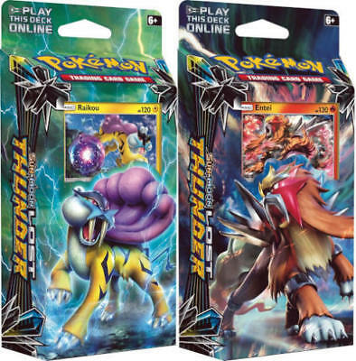 Pokemon Sun & Moon Lost Thunder TCG booster Theme Decks Raikou & Entei NEW!