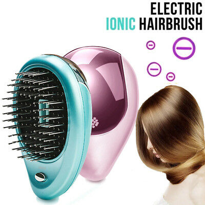 1pc Portable Electric Ionic Hairbrush Takeout Mini Ion Hair Massage Brush Comb F