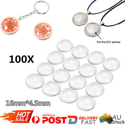 Clear Crystal Round Cabochon Flat Back Glass Dome Tile Jewellery Making 100PCS