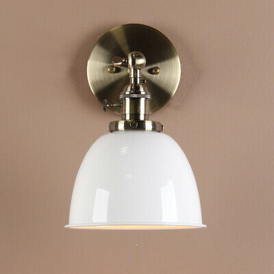 """6.3"""" Vintage Rustic Metal Wall Sconce Loft Wall Lamp Brass Wall Fixture 6 Colors"""