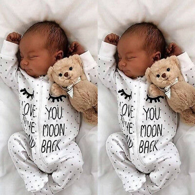 US Newborn Infant Baby Boy Girl One-Pieces Hooded Romper Jumpsuit Outfit Clothes
