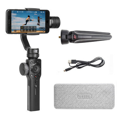 Zhiyun Smooth-4 3-Axis Smartphone Gimbal Stabilizer+ Selfie Light+ Cleaning Kit