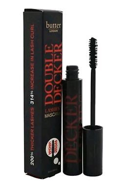 Butter London Double Decker Lashes Mascara in Stacked Black Full Size .41 oz NIB