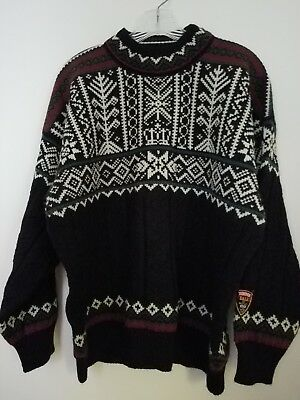 Vintage Dale of Norway 1997 Men's Crew Neck Wool Sweater Trondheim Size MEDIUM