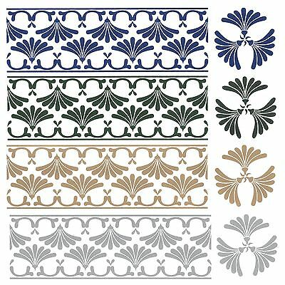 Tile Transfers Victorian Infanti Borders and Inset Water Slide Choice Of Colours