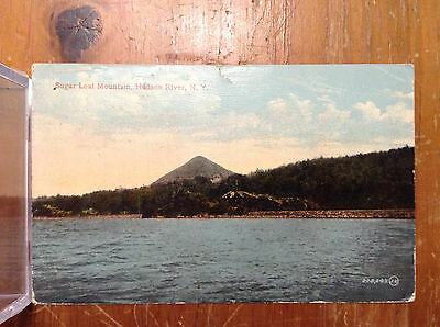 Sugar Loaf Mountain Hudson River NY Posted 1914 Antique Postcard Greene Co Vtg