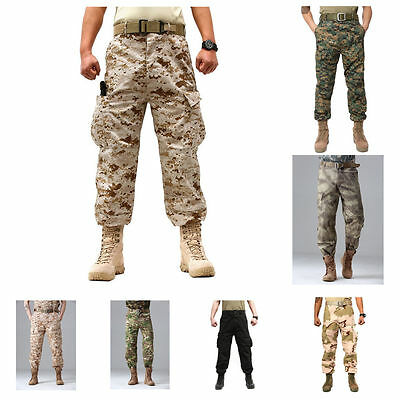 Combat Men's Military Camouflage Trousers Cargo Camo Commando ARMY Pants