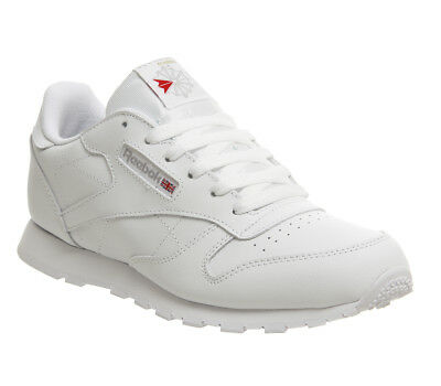 94be463691bd WOMENS REEBOK CLASSIC Leather Gs Trainers White Trainers Shoes - EUR ...