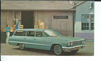 AY-228  1963 Chevrolet Impala Station Wagon Modern Chrome Advertising Postcard