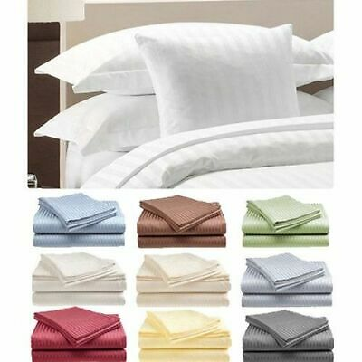 1800 Series Egyptian Bed Sheet Set Deep Pocket Striped 6 Piece Multi Colors king