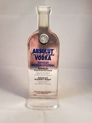 Collectible Absolut Vodka Table Advertising Plastic with paper insert Bar