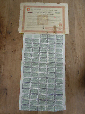 China, Marconi Loan 1918, 100 Sterling !  selten !