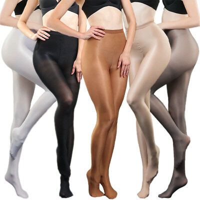 200lbs Super Elastic Plus Size Pantyhose 70D Shiny High Glossy Stockings Tights