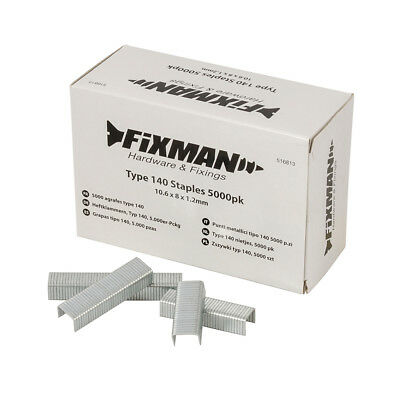 Fixman 516813 Type 140 Staples 5000pk 10.55 x 8 x 1.26mm