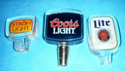 6009c98215011 3 Different Lucite Beer Tap Handles Coors Light - Stroh Light -- Miller Lite