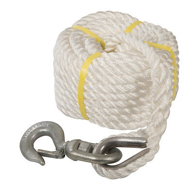 Silverline 865628 Gin Wheel Rope with Hook 20m x 18mm