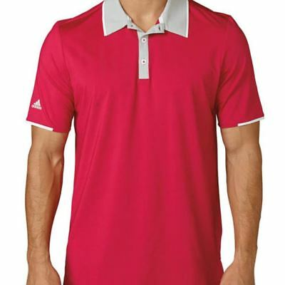 adidas Mens Climacool Tipped Performance LightWeight Golf Polo Shirt