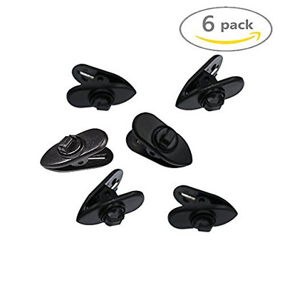6 PCS Rotate Mount Cable Clothing Clip Shirt Clips for Headphone Earphone Wire