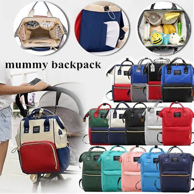 Mummy Baby Diaper Bag Large Capacity Mom Backpack Baby Nappy Tote Shoulder Bag