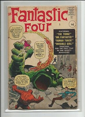 Fantastic Four # 1 grade 3 to 3,5 . 1961