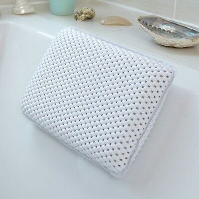 Comfort White Waterproof Bath Pillow - Relax and Unwind - Back, Neck,Support